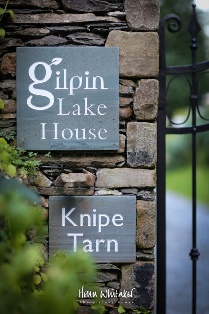 Wedding photographer Gilpin Lake House entrance