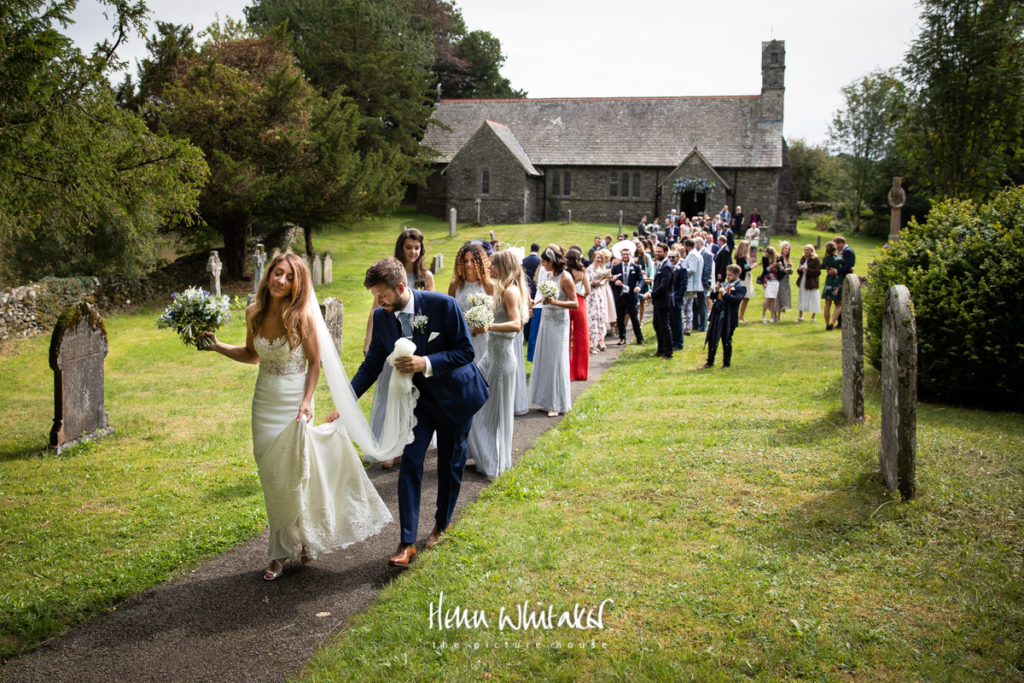 Documentary wedding photography Lake District church Gilpin Lake House