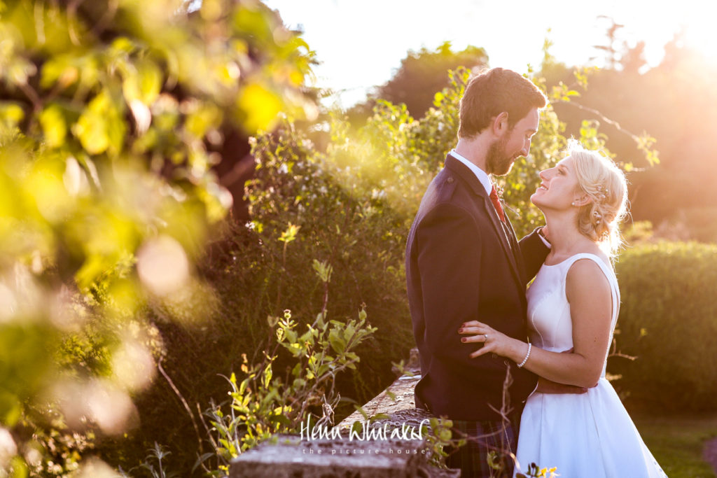 wedding photographer golden hour Springkell Scotland