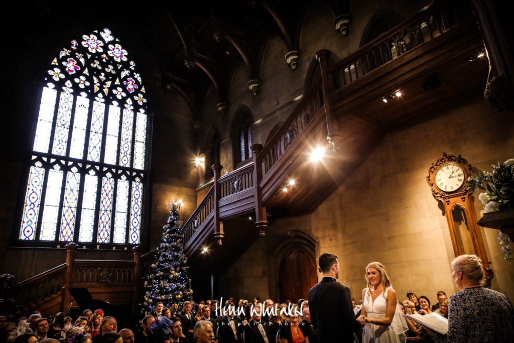 Documentary wedding photographer Matfen Hall Northumberland ceremony