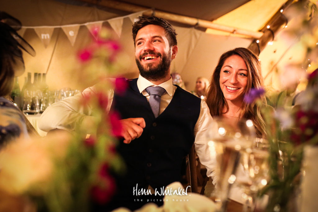 Documentary wedding photographer tipi Gilpin Lake House Cumbria