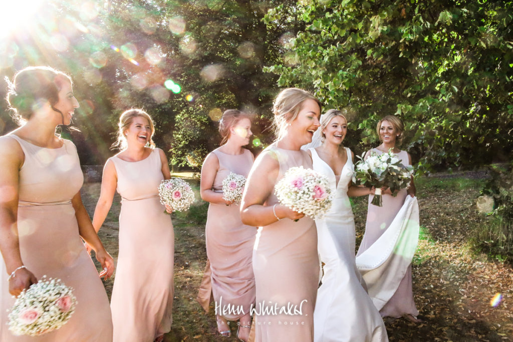 Documentary wedding photographer Dalston Hall Cumbria bridesmaids