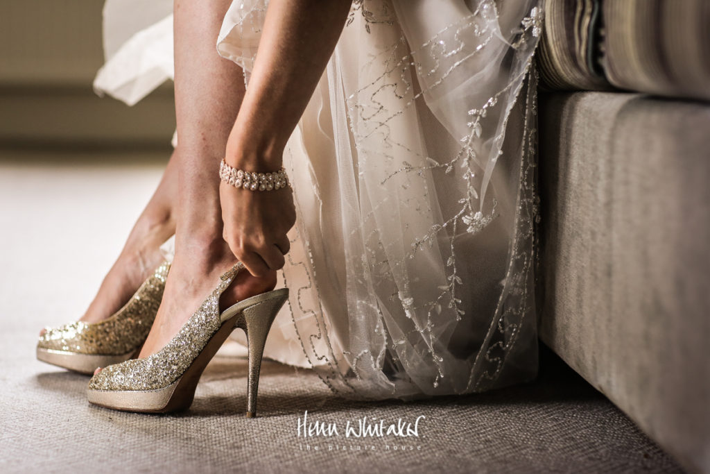 Documentary wedding photographer Jimmy Choo shoes Lake District