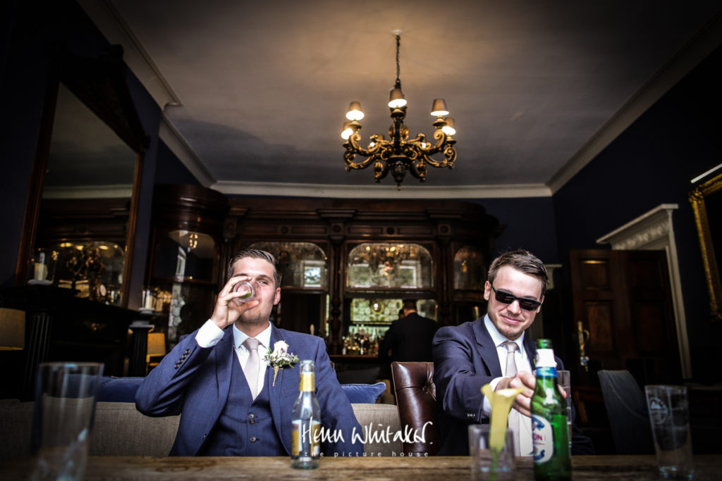 Wedding photographer Storrs Hall the bar Lake District
