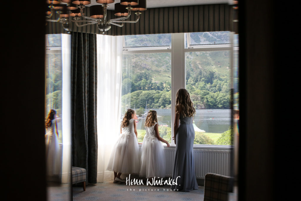 Documentary wedding photographer Lake District Inn on The Lake