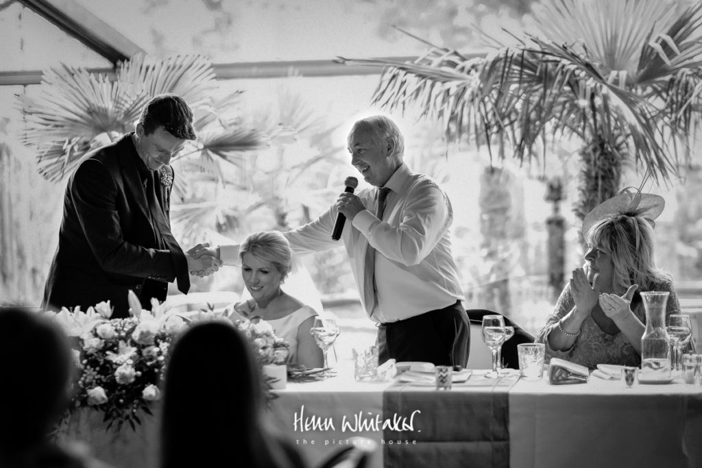 Documentary wedding photographer Le Petit Chateau Northumberland the top table