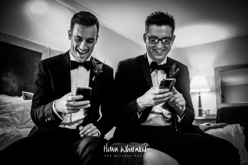 Documentary wedding photographer Matfen Hall Northumberland the boys