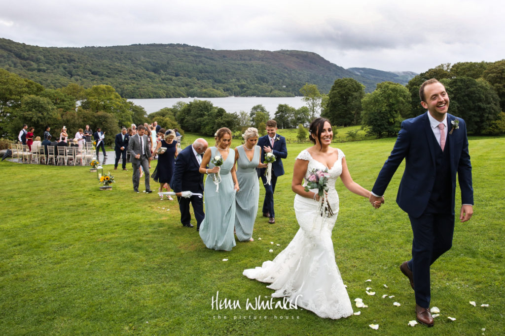 Documentary wedding photographer Silverholme Manor Windermere Lake District