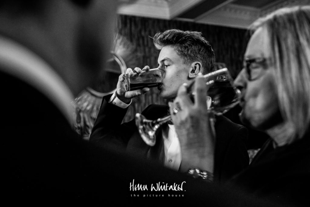 Documentary wedding photographer Cumbria drinks