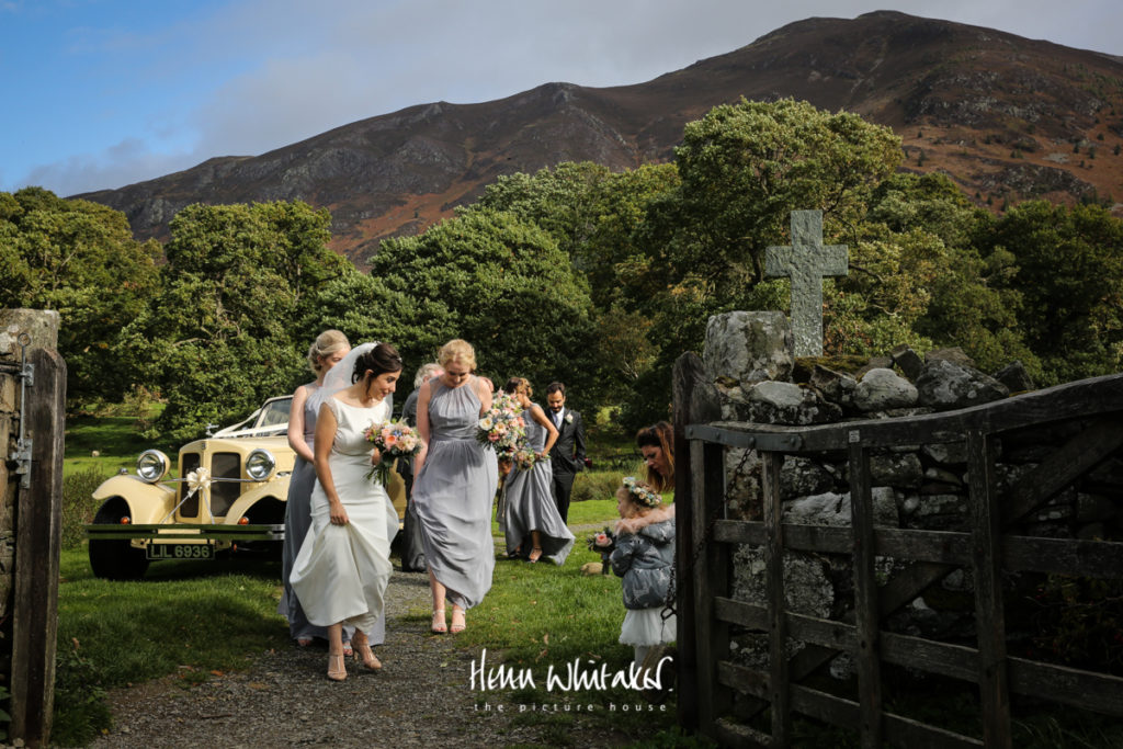 Documentary wedding photographer Cumbria St Bega's Church