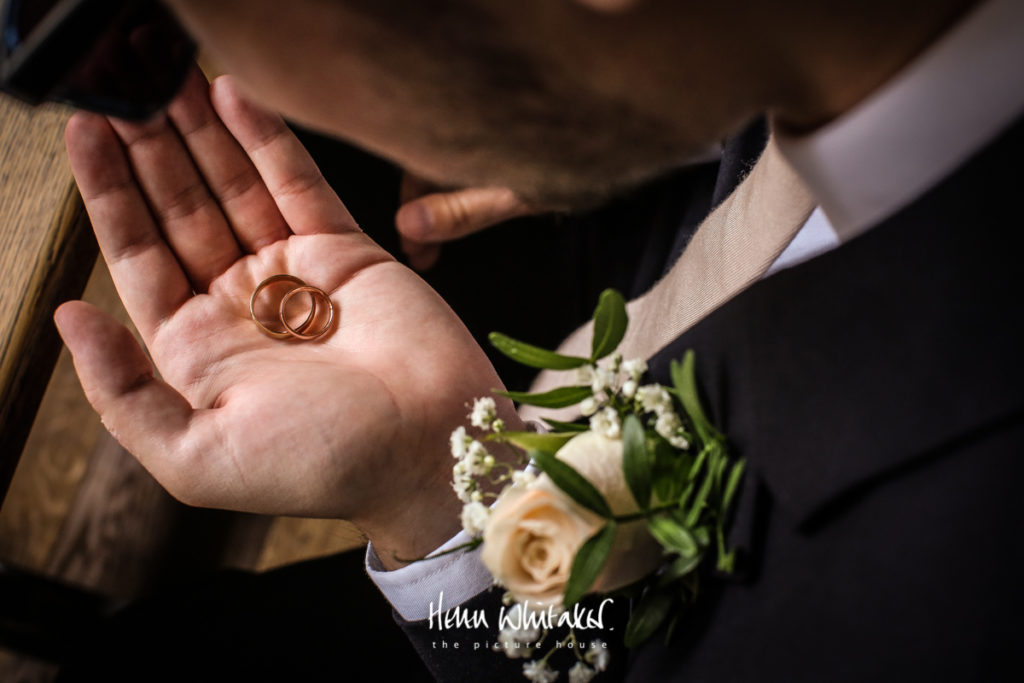 Documentary wedding photographer Cumbria the rings