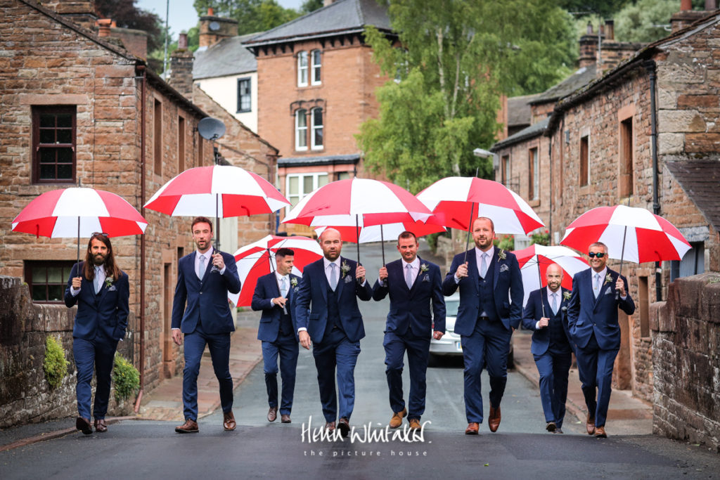 Documentary wedding photographer Cumbria ushers