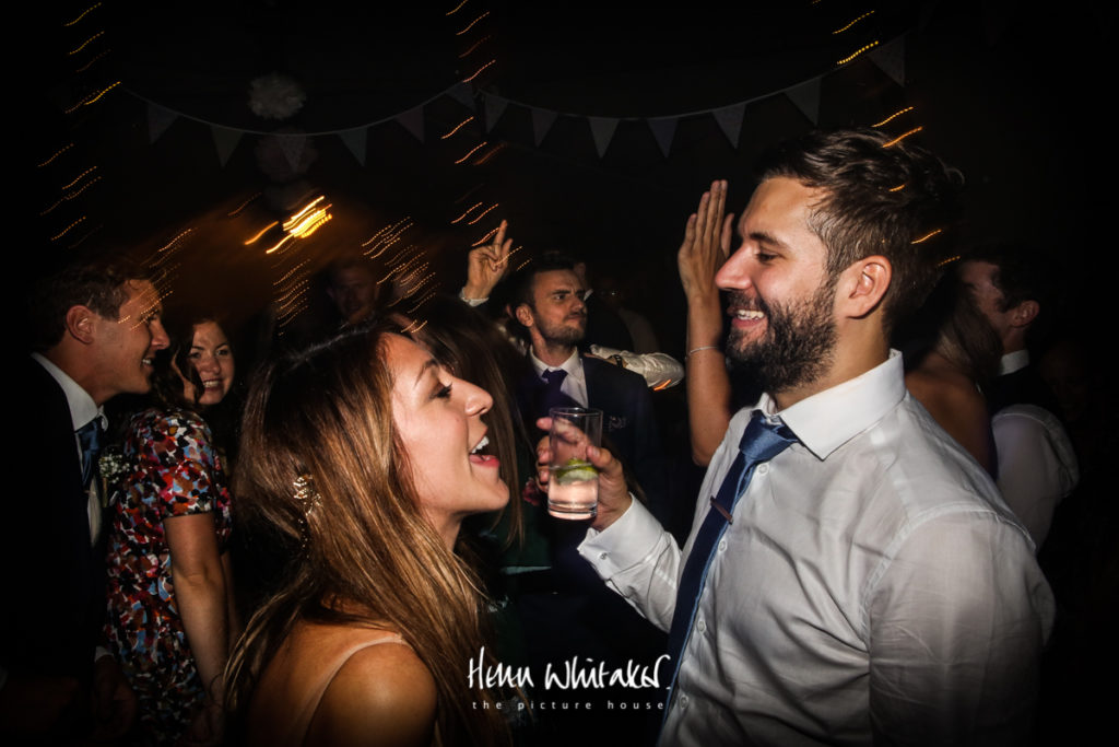 Documentary wedding photographer Cumbria dancing