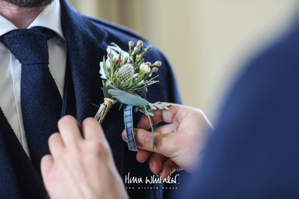 Springkell wedding photographer buttonholes