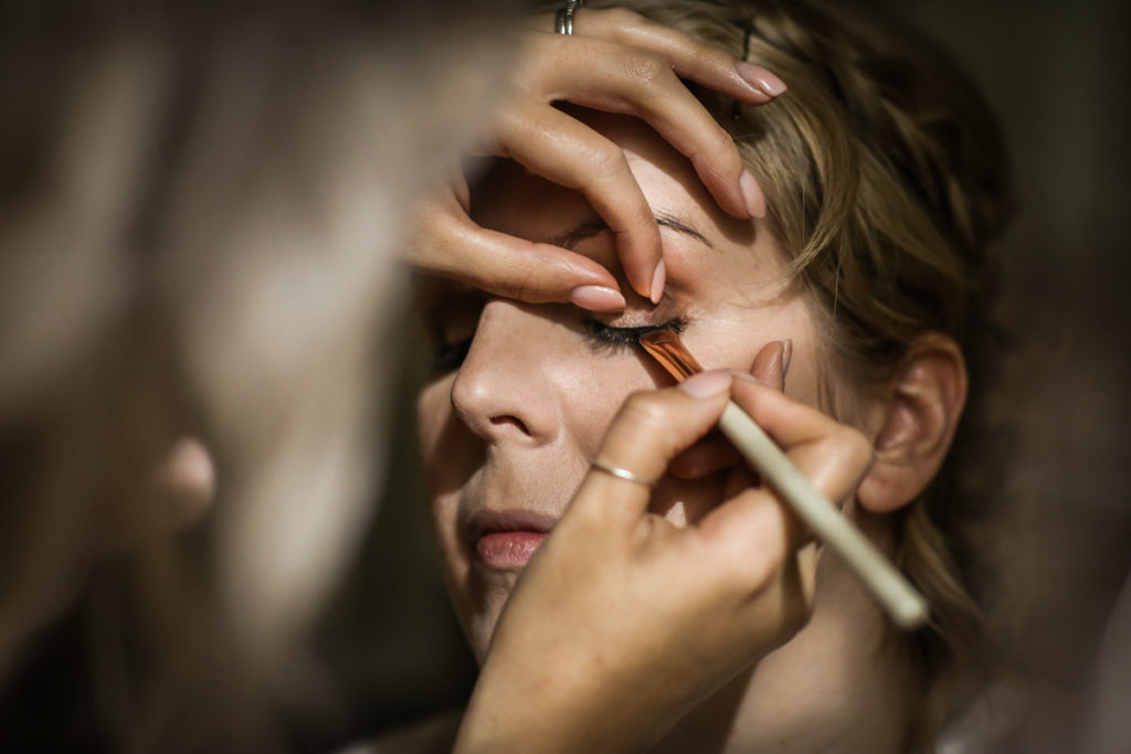 lake district documentary wedding photographer bridal makeup