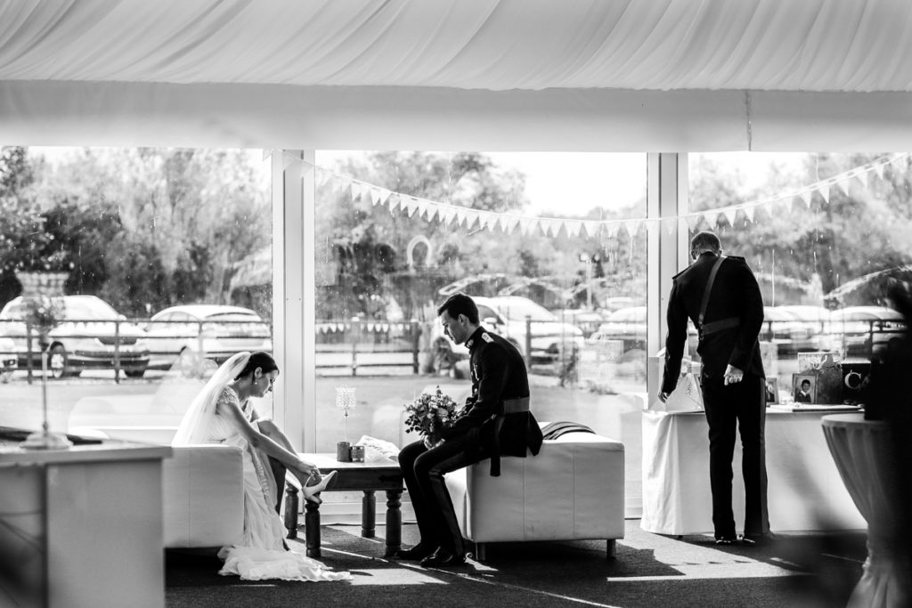 lake district documentary wedding photographer black and white image