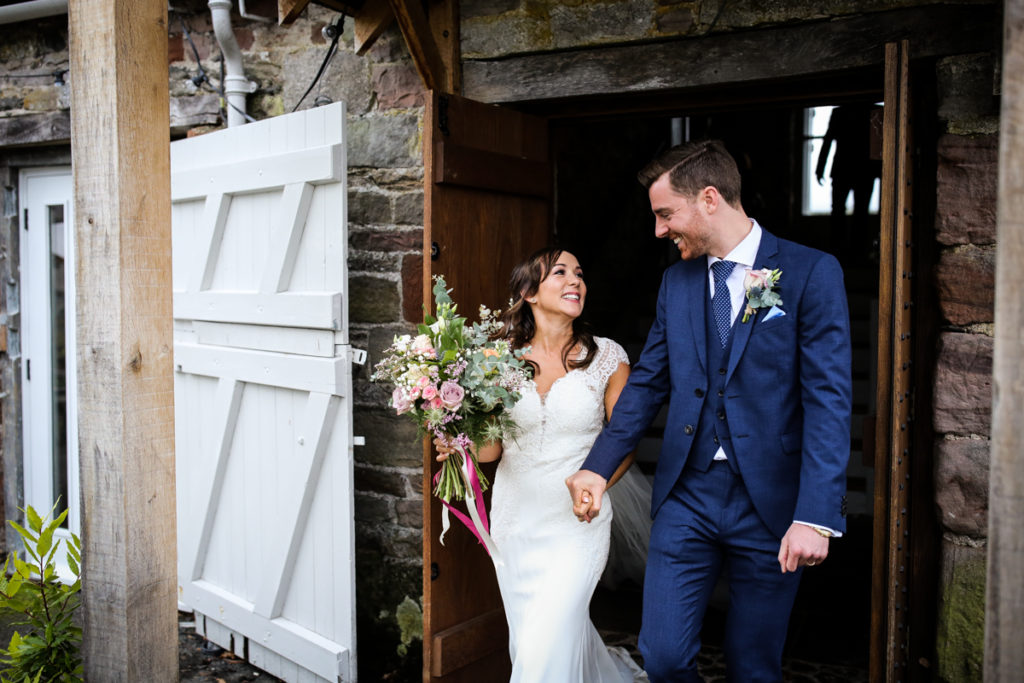 lake district documentary wedding photographer Askham Hall just married