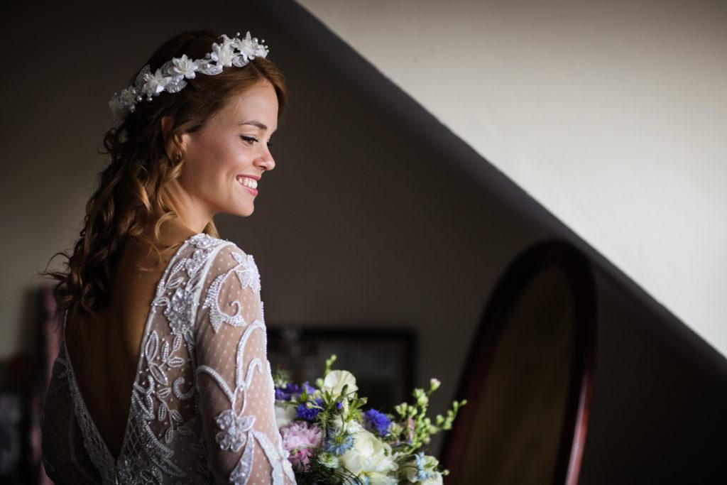 lake district documentary wedding photographer bridal portrait