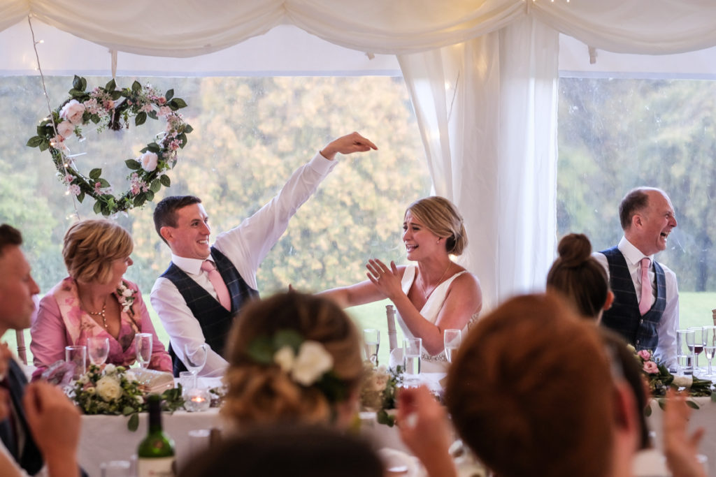 lake district documentary wedding photographer Low House wedding speeches