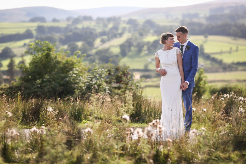 Knipe hall couple in the Lake District hills