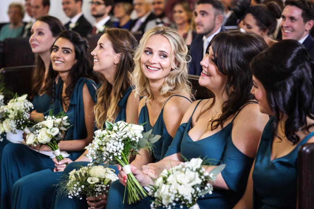 lake district documentary wedding photographer bridesmaids smiling