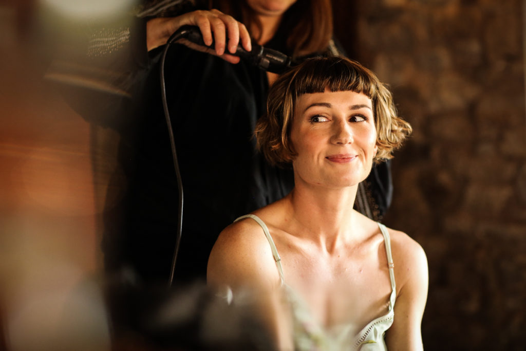 lake district documentary wedding photographer Knipe Hall bridal prep