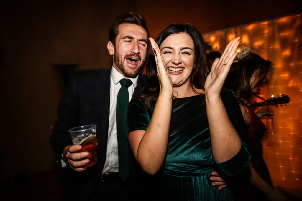 lake district documentary wedding photographer couple laughing
