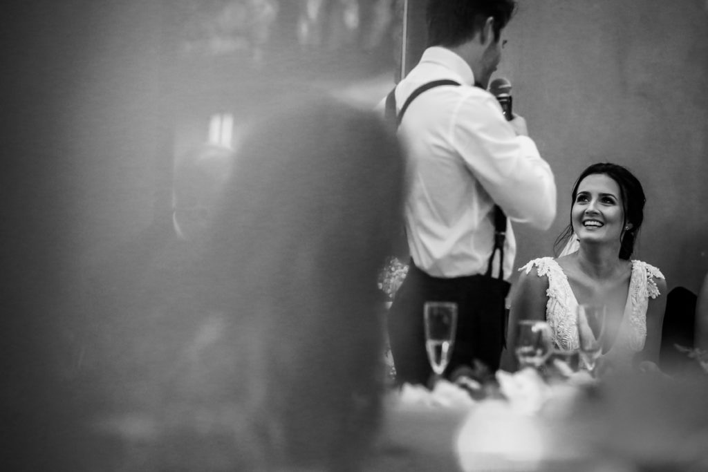 lake district documentary wedding photographer wedding speeches in black and white