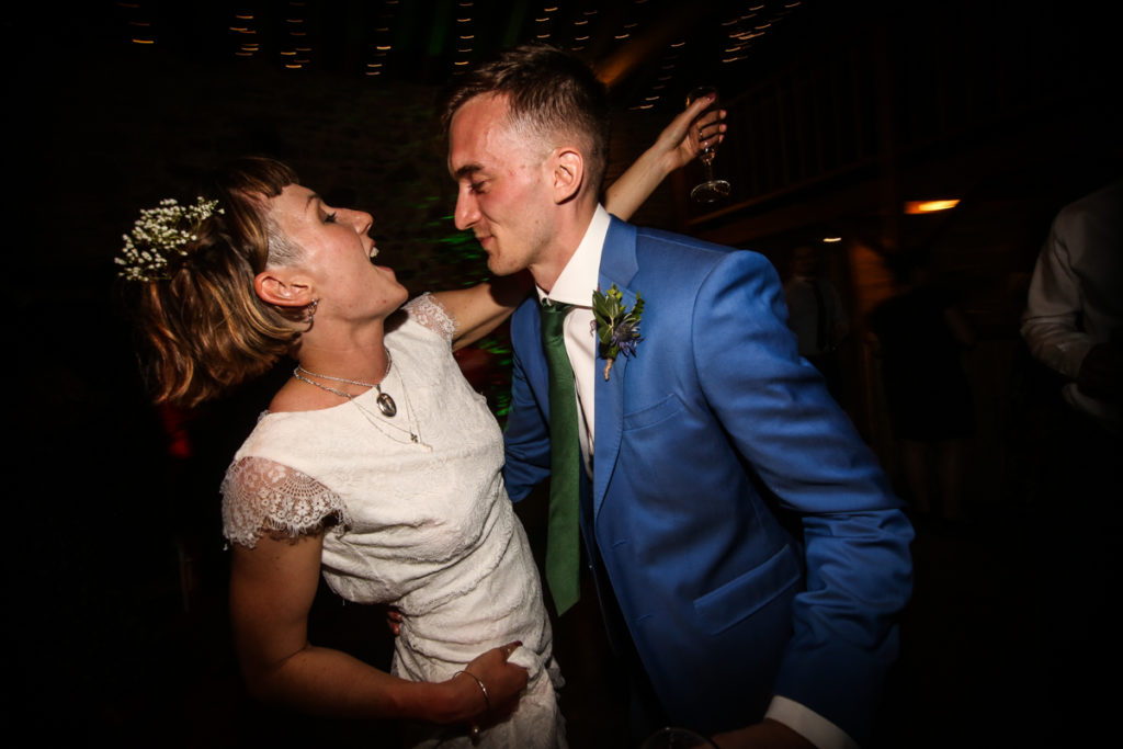 lake district documentary wedding photographer Knipe Hall couple dancing