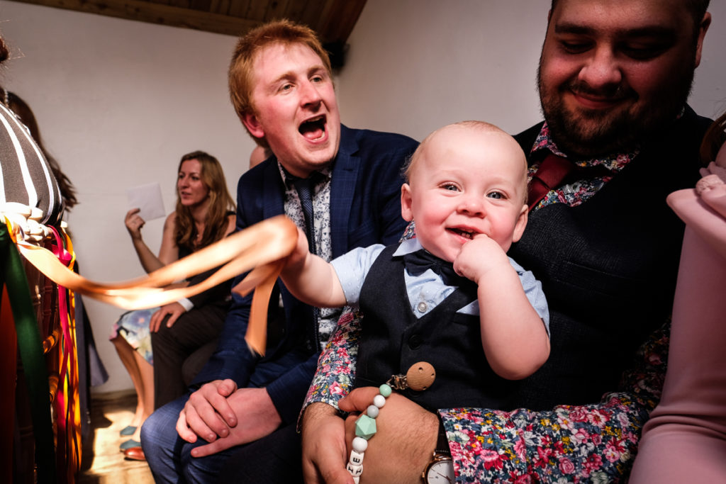 lake district documentary wedding photographer cute kid and Dad