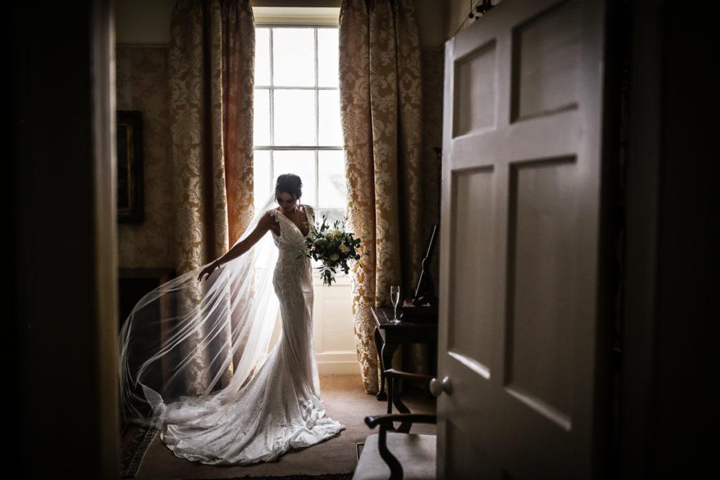 Lake district wedding photographer doorway shot