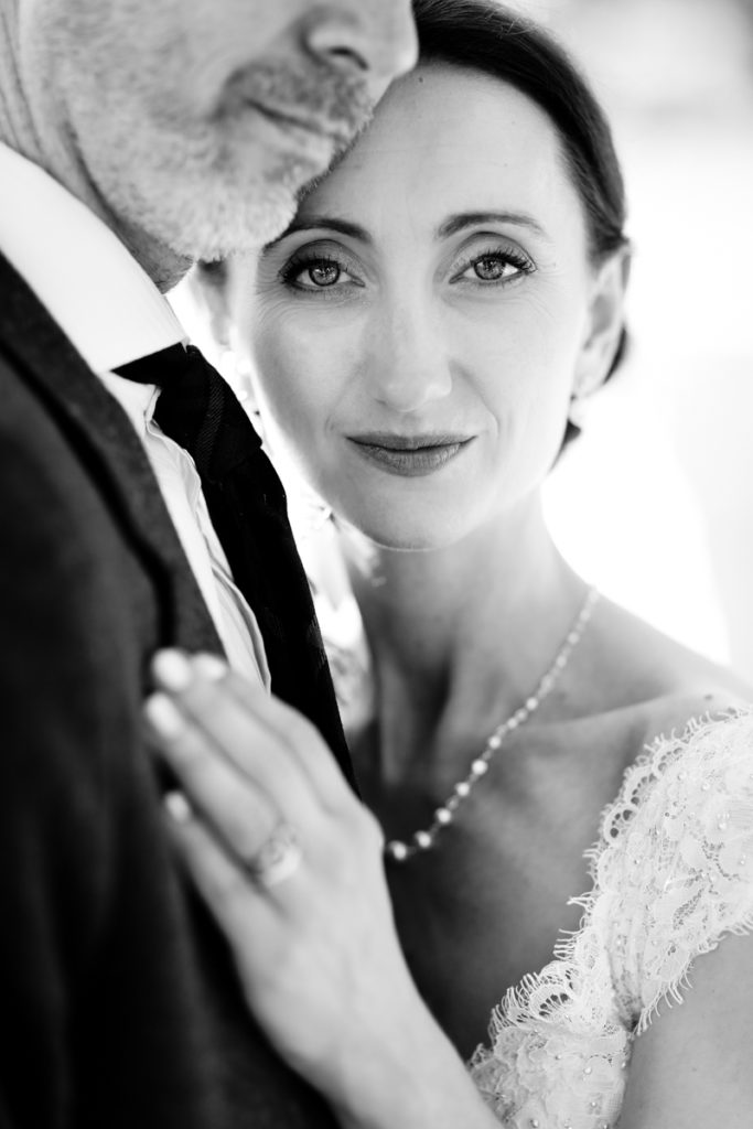 Lake district wedding photographer black & white bride