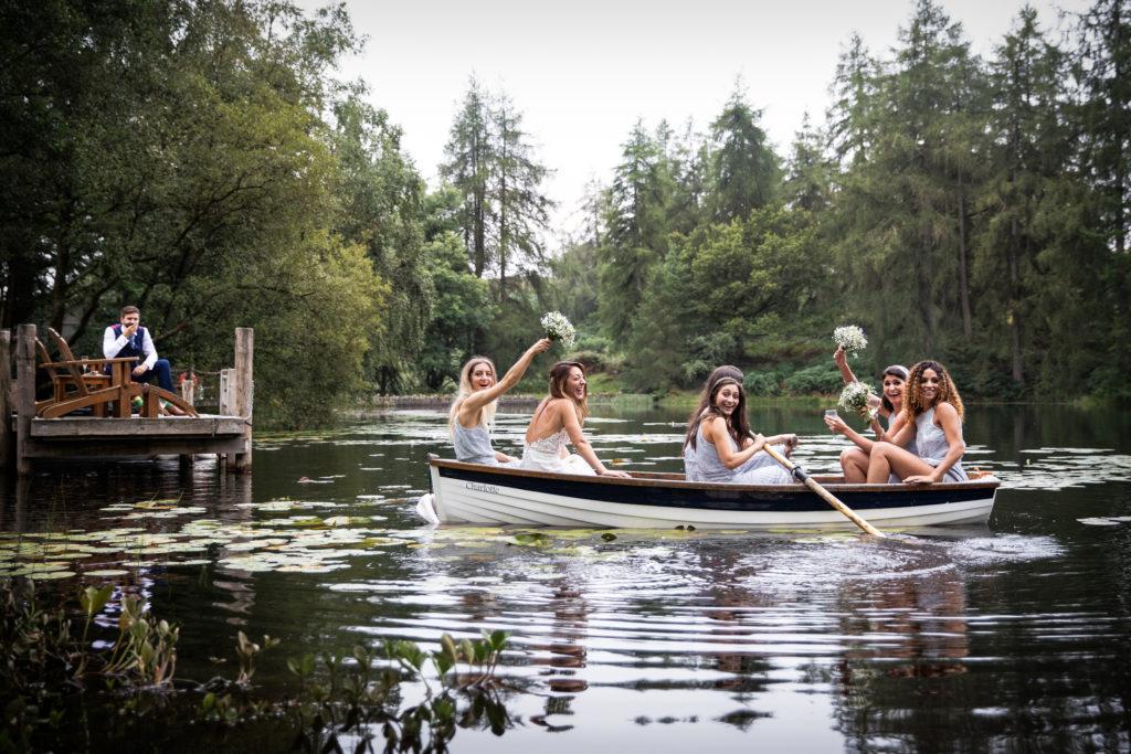 Lake District Wedding Photographer bridal party at Gilpin Lake House