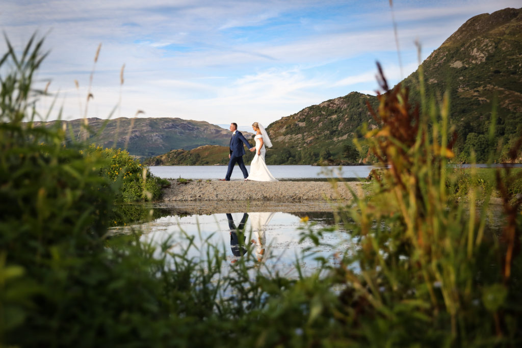 Lake District Wedding Photographer couple at ullswater