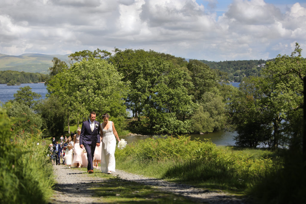 Lake District Wedding Photographer silverholme procession