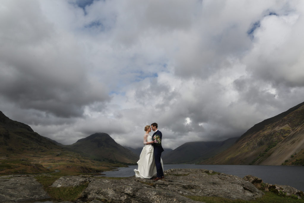 Lake District Wedding Photographer couple at wastwater