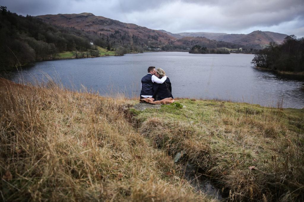 Elopement wedding photographer Loughrigg